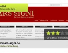"""ARS SIGNI Finalist bei """"Handwerkerseite des Jahres"""" 2014"""